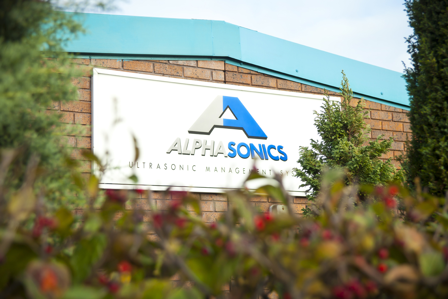 Alphasonics logo, ultrasonic cleaning