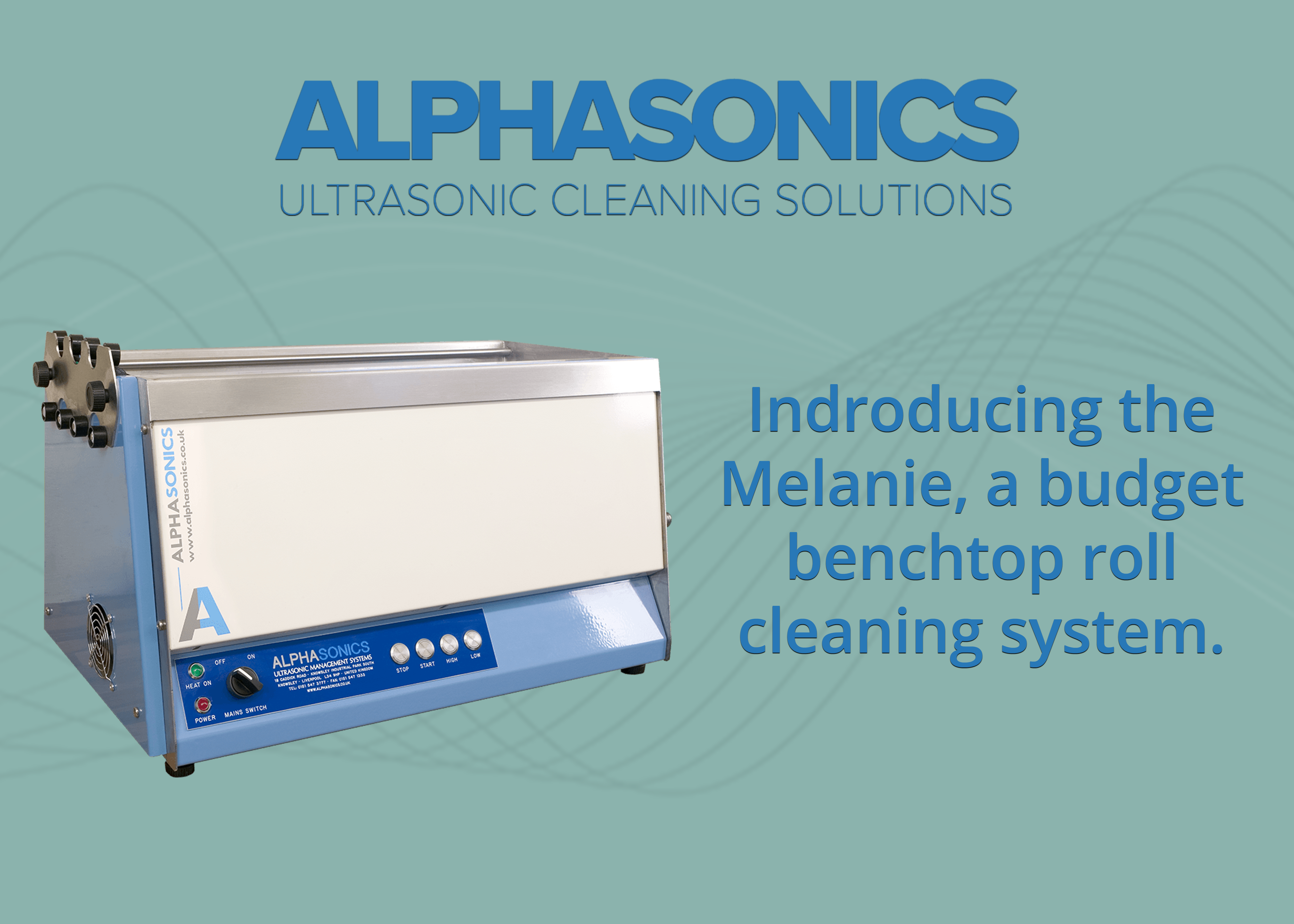 A decorative image introducing the Melanie range from Alphasonics.