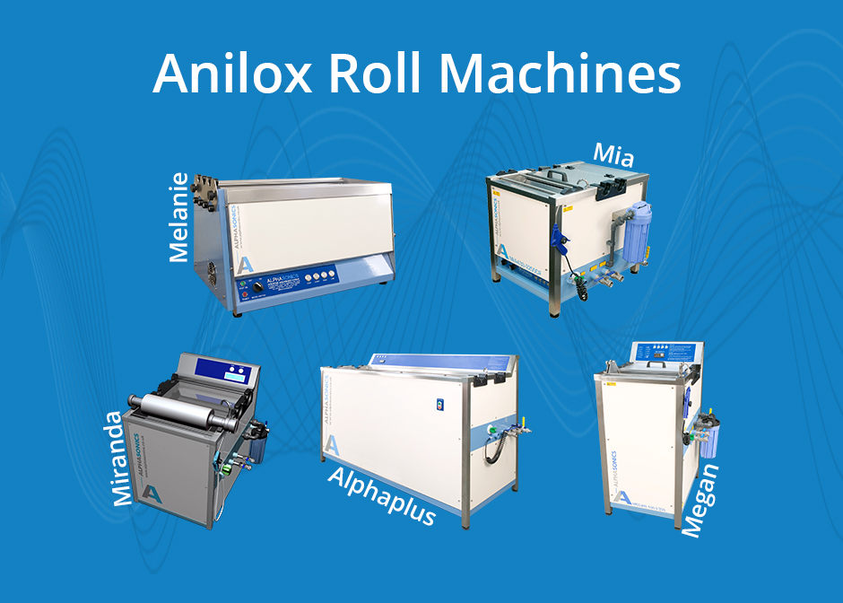 anilox rolls, anilox, ultrasonics cleaning