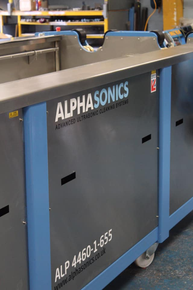 An up close image of the bespoke ALP system from Alphasonics.