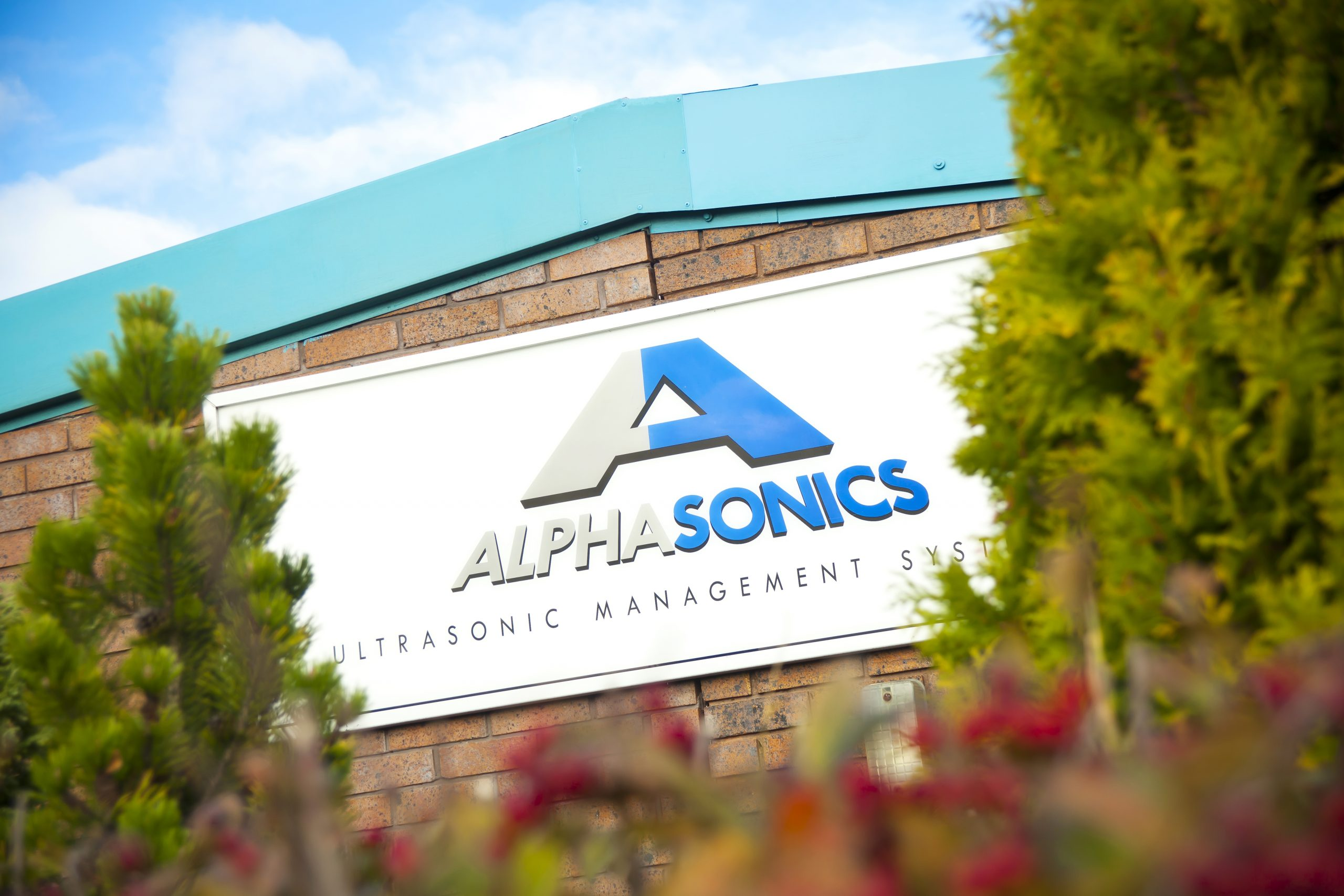 This is an image of the front of the Alphasonics building.
