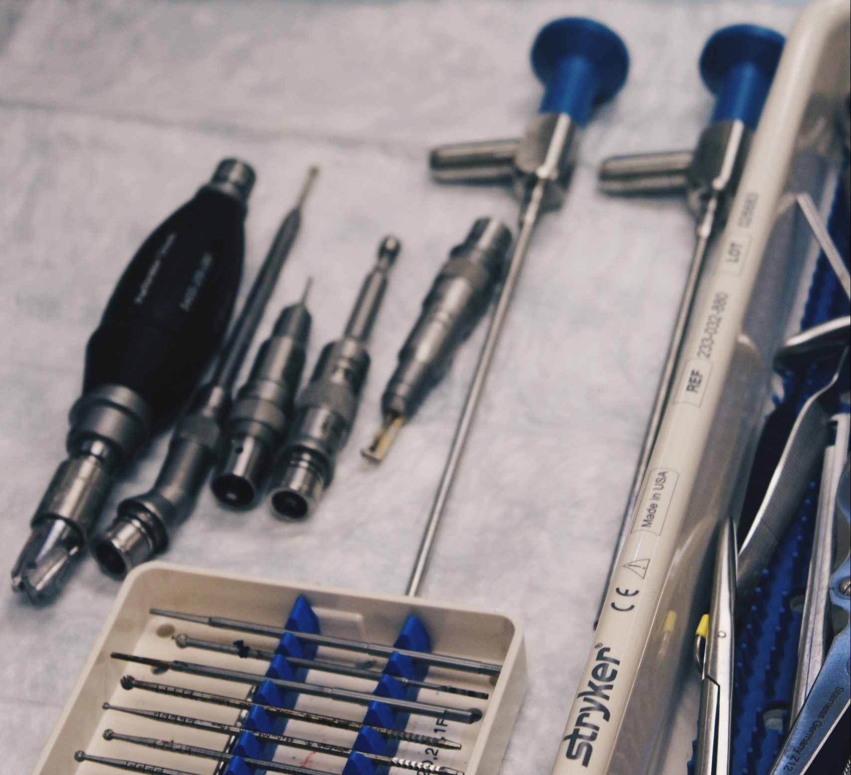A decorative image of surgical instruments in which Alphasonics have the ability to clean to a medical grade standard with their range of Medstar systems.