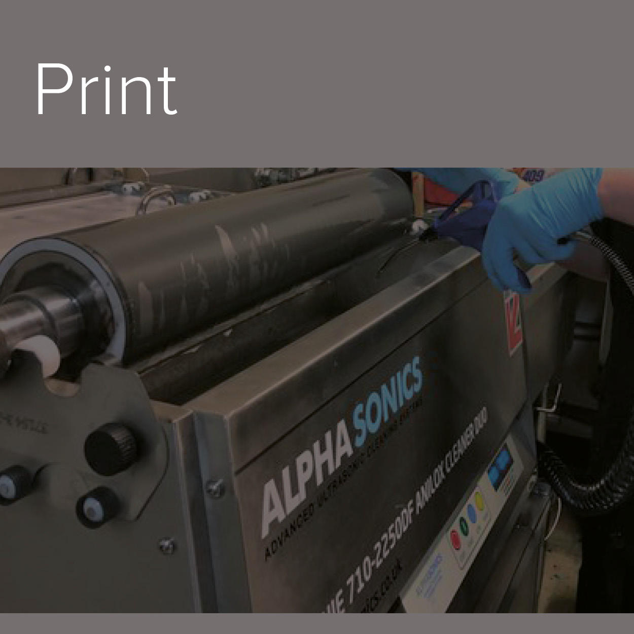 A decorative image of the Print industry in which Alphasonics cater to.