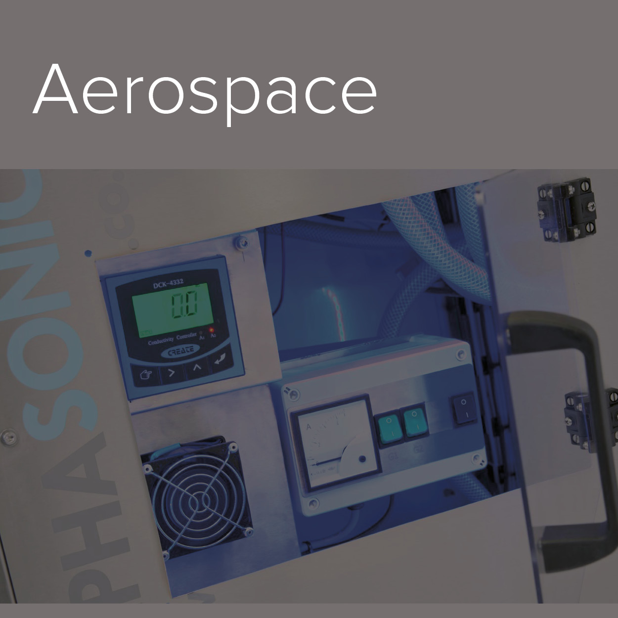 A decorative image of the Aerospace industry in which Alphasonics cater to.