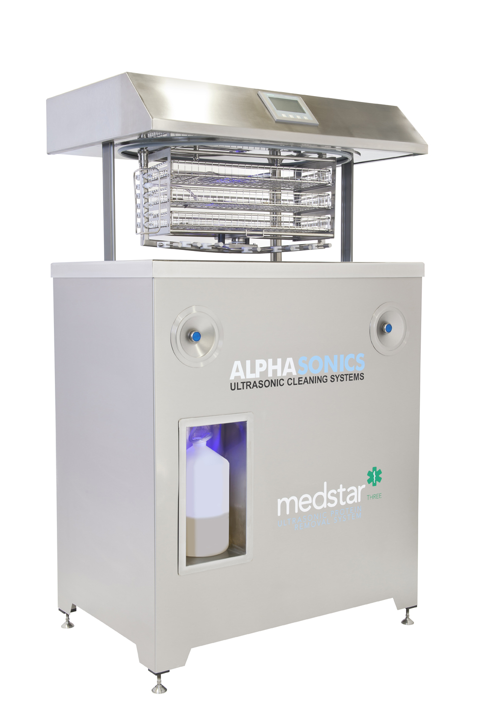 A wide shot image of the Medstar system from Alphasonics, designed for cleaning surgical systems.