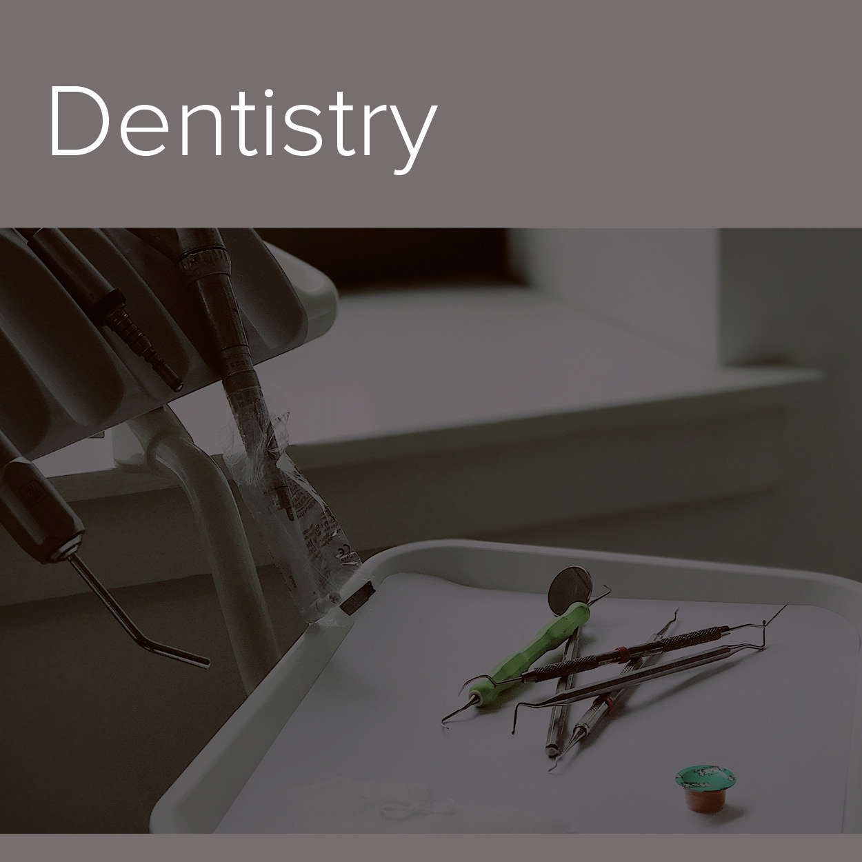 A decorative image of the Dentistry industry in which Alphasonics cater to.