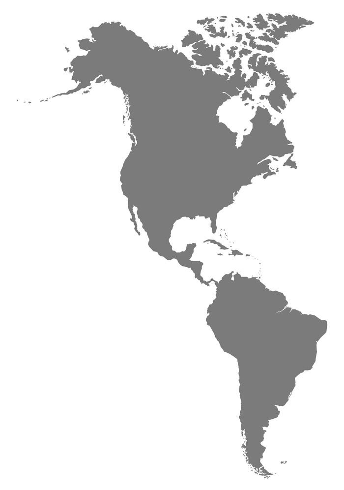 America Map grey